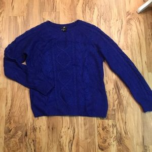 Cobalt Cable Sweater